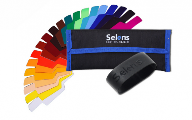 Selens Flash Combination Gel Kits offer you a choice of 20 dynamic colors and correction filters to help create dramatic and theatrical lighting in your images. Each kit includes 14 color…