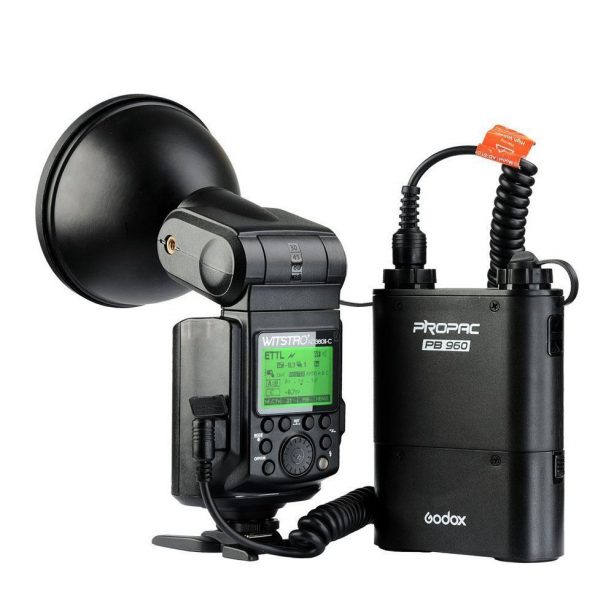 Godox AD360II-C Witstro TTL 360W Flash with Lithium Power Pack PB960 for Canon
