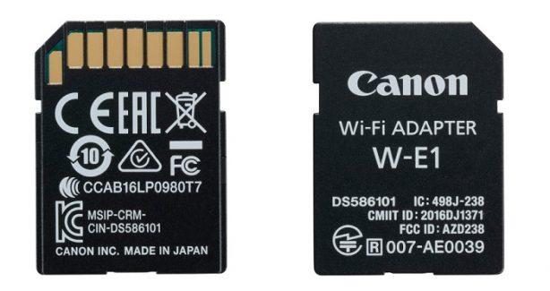 Canon Wi-Fi Adapter W-E1 for Canon EOS 7D Mark II, 5Ds og 5Ds R.  Høyhastighets (802.11b/g/n Wi-Fi 2.4 GHz) Wi-Fi adapter som lar deg overføre bilder og MP4-video trådløst til din…