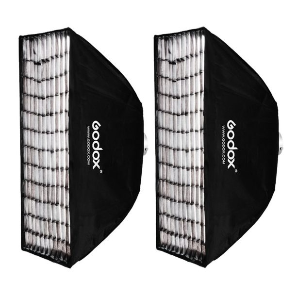 2x Godox 60x90cm Grid Softbox Bowens Mount for Studio Strobe Flash Light 60×90