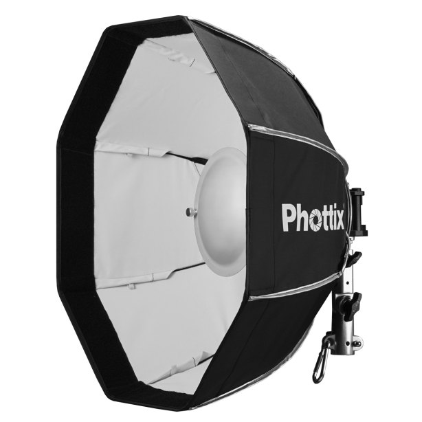 Features   Both a Beauty Dish and Octa Softbox  Portable and easy to assemble  Compatible with Phottix Speed Rings, the Phottix Spartan can be used with all popular brands of studio…