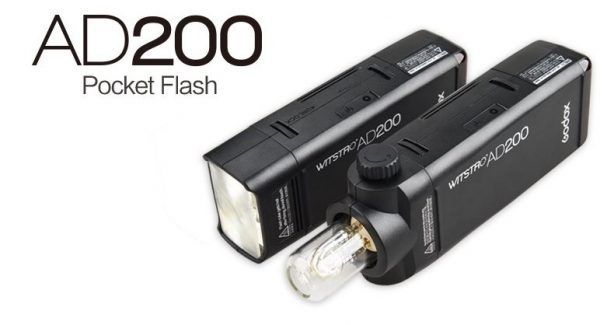 Godox AD200 2.4G TTL 1/8000s HSS 2900mAh Double Head Pocket Flash Speedlite