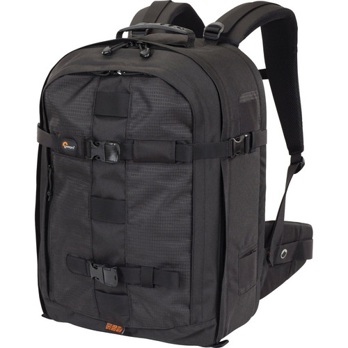 The Lowepro Pro Runner 450 AW Backpack is designed to carry and protect a Pro digital SLR camera with attached lens (up to 300mm f/2.8) plus 4-6 lenses or flash,…