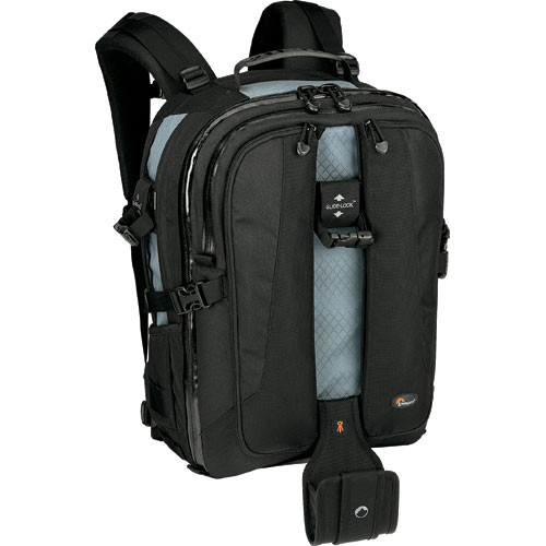 The Lowepro Vertex 200 AW Backpack is a bag made to carry a digital SLR with lenses and accessories, plus a 15.4″ notebook computer. It is ruggedly constructed with water-resistant…
