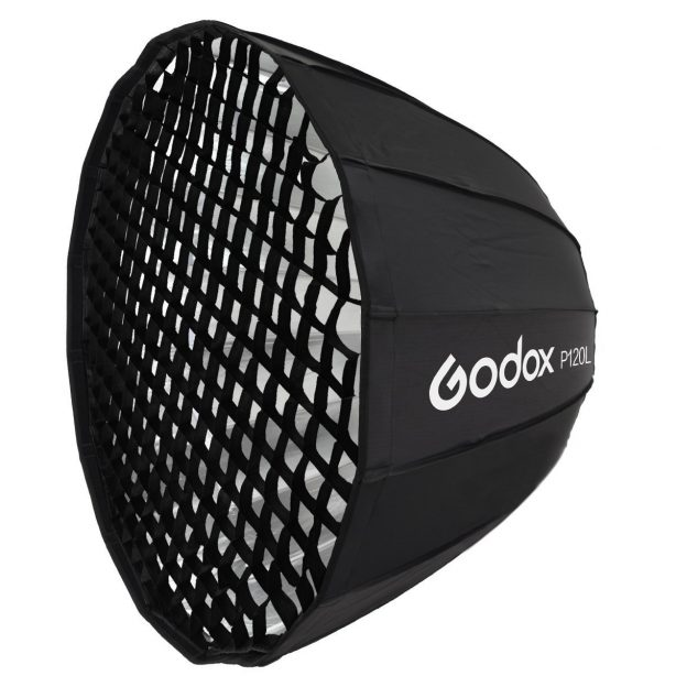 Godox P120L 120cm Parabolic Softbox w/ Honeycomb Grid for Flash Speedlite Bowens