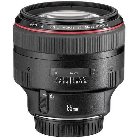 The EF 85mm f/1.2L II USM Lens from Canon is a fast, medium telephoto lens that delivers superb optical performance. A maximum aperture of f/1.2 makes it the professional's choice for shooting…